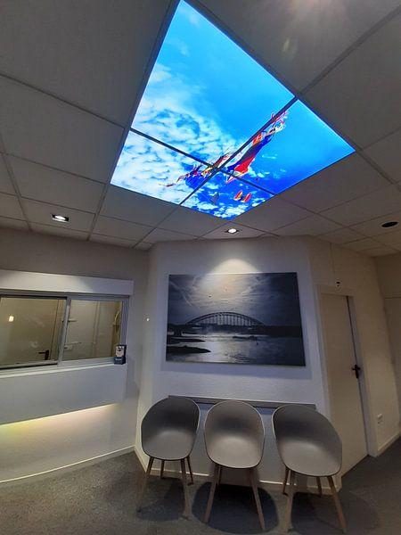 Kundenfoto: Waal bei Nijmegen von Henk Kersten, auf leinwand