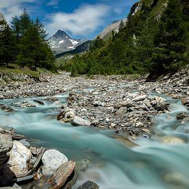 Grossglockner en Ködnitzbach - Tirol - Oostenrijk van Felina Photography