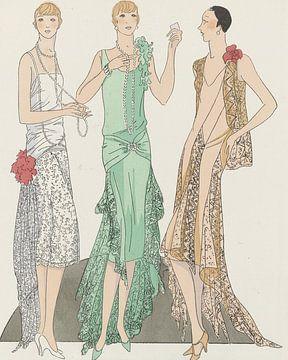 De Franse schoonheden | Het nachtleven | Vintage Art Deco Mode | Historische advertentie van NOONY