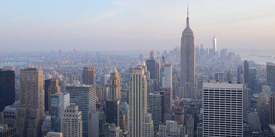 Manhattan New York met het Empire State Building, panorama van Merijn van der Vliet
