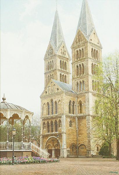 Schilderij: Roermond, Munsterplein van Igor Shterenberg