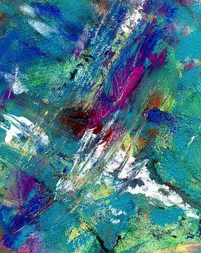 """Abstracte schilderkunst """" chromatische kleuren """" van Claudia Gründler"""