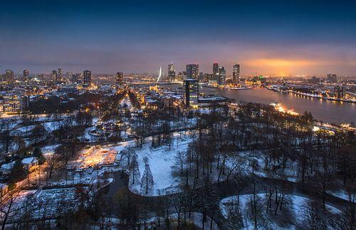 Snow in 'The Park' of Rotterdam | winter panorama von