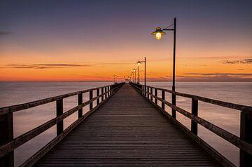 Pier van Bansin, Usedom, Duitsland van Adelheid Smitt