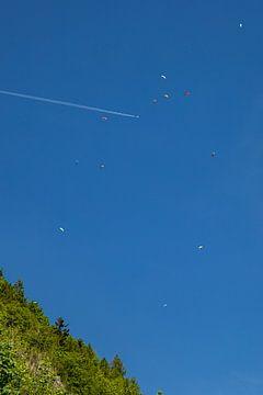 Paraglider am Büssingpass von Alexander Wolff
