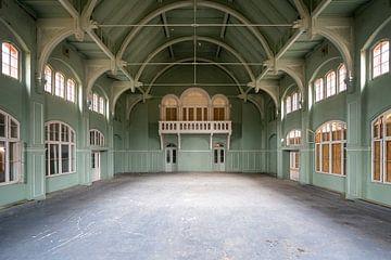 Grüne verlassene Turnhalle. von Roman Robroek