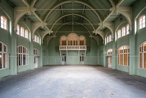 Groene Verlaten Gymzaal. van Roman Robroek