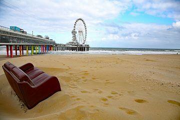 Scheveningen strand met De Pier van Anneke Ruys