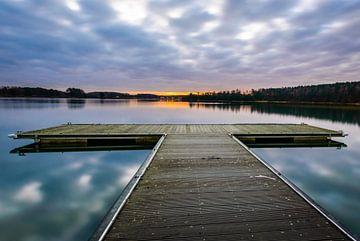 Pier des Sees von Johan Vanbockryck