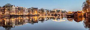 Maisons de canal sur l'Amstel à Amsterdam