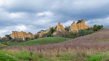 Landschaft der Mona Lisa, Le Balze, Toskana, Italien von Discover Dutch Nature