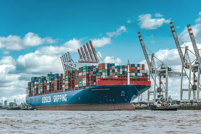 Containerschip aan de kade van Sabine Wagner