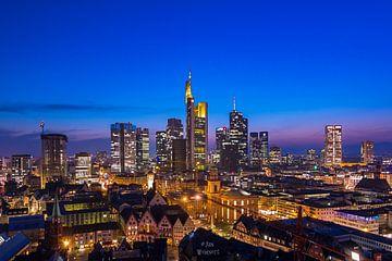 nach dem Sonnenuntergang win Blick Frankfurt von Fotos by Jan Wehnert