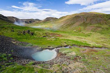 Warmwaterbronnen in Reyjadalur, IJsland von Joep de Groot