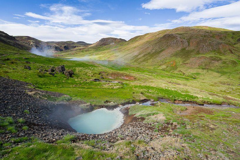 Warmwaterbronnen in Reyjadalur, IJsland van Joep de Groot