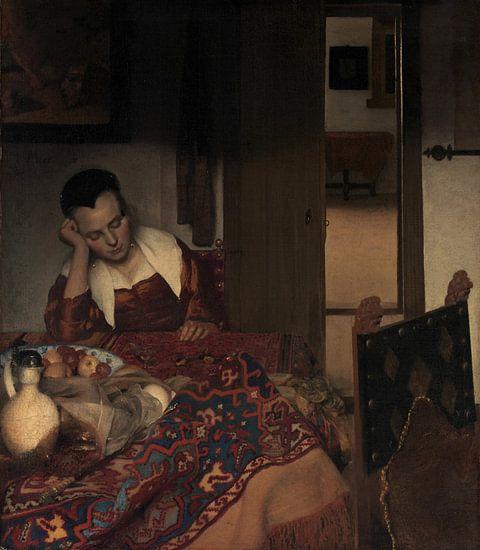 A Maid In slaap, Johannes Vermeer