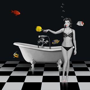 De badkamer met de BLUBB