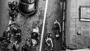 Hectische verkeer Bangkok van boven! van Jeroen Somers