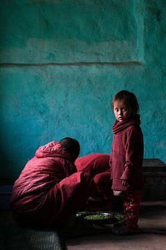 Boeddhistisch kind nonnetje van Affect Fotografie