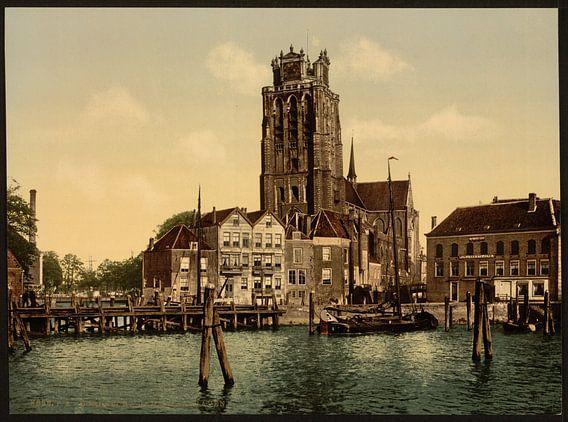 Dam and Maashaven, Dordrecht van Vintage Afbeeldingen