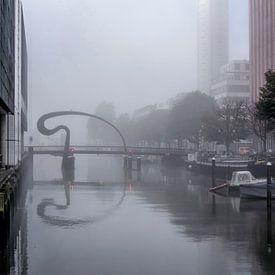 Nebel an der Ibisbrücke von Frans Blok
