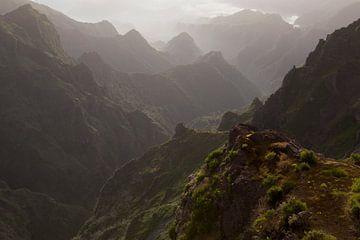 Ruig gebergte op het eiland Madeira