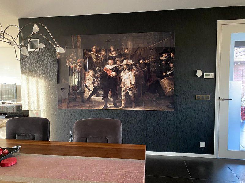 Klantfoto: De Nachtwacht, Rembrandt van Rijn van Rembrandt van Rijn, op staal