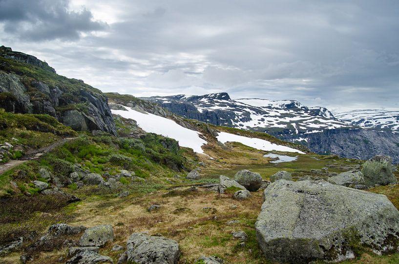 Bergpas in Ringedalsvatnet - Noorwegen van Ricardo Bouman | Fotografie