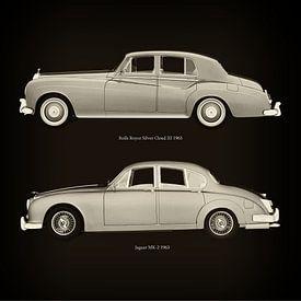 Rolls Royce Silver Cloud III 1963 und Jaguar MK-2 1963 von Jan Keteleer