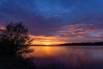 Sonnenuntergang an der Donau bei Straubing Niederbayern von Thilo Wagner
