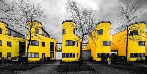 We all live in a yellow home (zwart-wit en geel) van