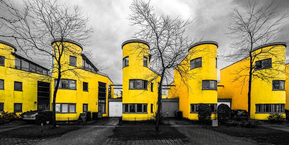 We all live in a yellow home (zwart-wit en geel) van Arjan Schalken