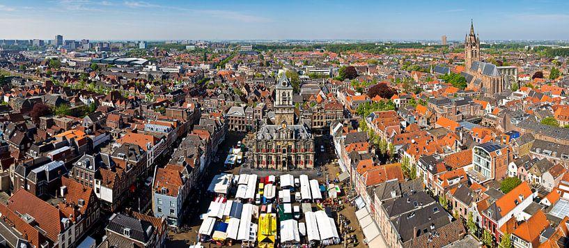 Panorama Markt Delft van Anton de Zeeuw