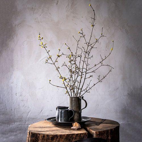 Oud Hollands stilleven op hout [vierkant]