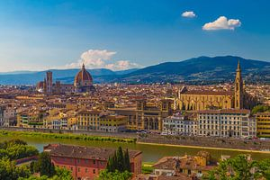 Florence, Italië - Uitzicht over de stad - 3