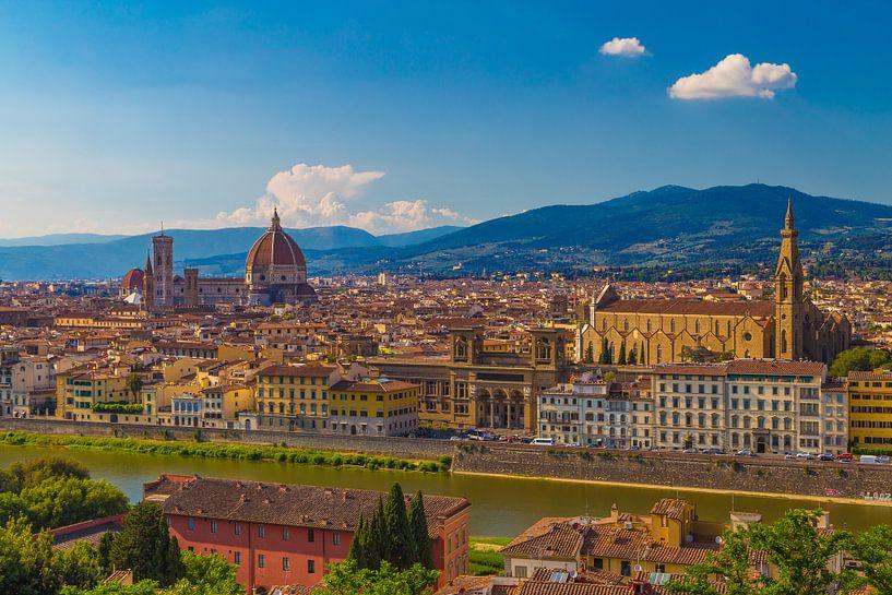 Florence, Italië - Uitzicht over de stad - 3 van Tux Photography