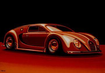 Bugatti Veyron 'Beetgatti' 1945 Gemälde