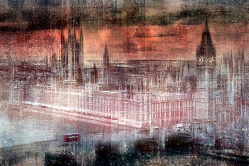 Digital-Art LONDON Westminster II van Melanie Viola