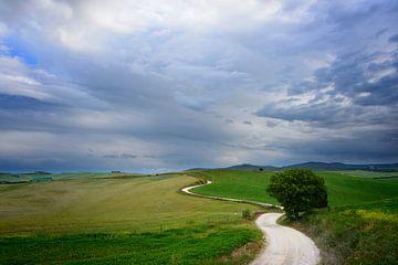 Route sinueuse vers une destination en Toscane sur iPics Photography