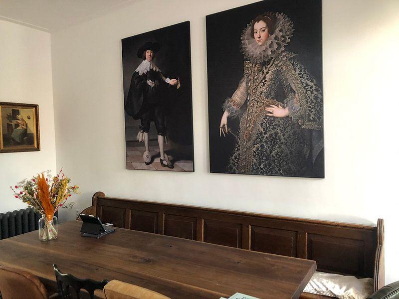 Klantfoto: Marten Soolmans van Rembrandt van Rijn, op print op doek