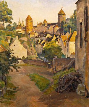 Émile Bernard~Blick auf das Schloss in Semur