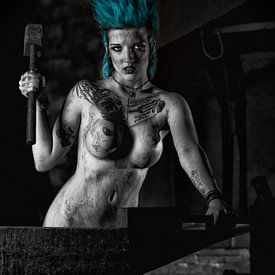 Naakte Punk Girl van Tilo Grellmann | Photography
