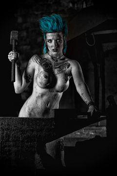 Naakte Punk Girl