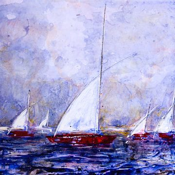 Witte zeilen  van Christine Nöhmeier