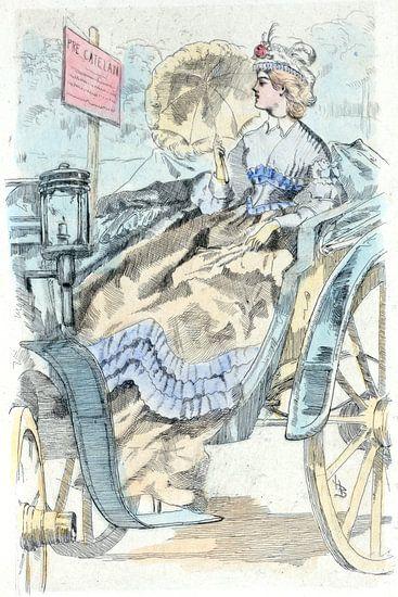 Mode 1864, Mode in het negentiende-eeuwse Parijs, Henri Boutet, (1851 1919) van Liszt Collection