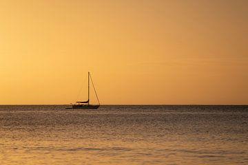 Magische zonsondergang op Magnetic Island in Australië van Diane Bonnes