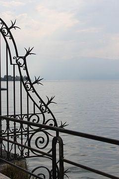 Architectuur Gardameer, Italie. van