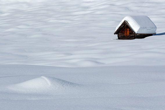 Einsame Hütte im Winter bei Gerold