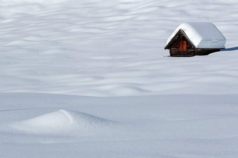 Einsame Hütte im Winter bei Gerold von Andreas Müller