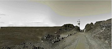 Kopakker Punta de Teno met vuurtoren in historische stijl van kanarischer Inselkrebs Heinz Steiner
